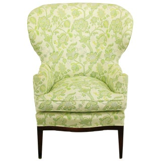 Early 1940 Edward Wormley Wing Chair for Dunbar For Sale