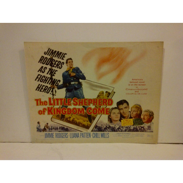 "A vintage movie poster for ""The Little Shepherd Of Kingdom Come"" starring Jimmie Rodgers and Luana Patten. 60/372...."