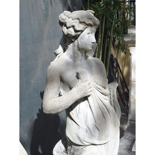 Art Nouveau Pair of 20th Century French Statues Representing Apollo and Diana For Sale - Image 3 of 13