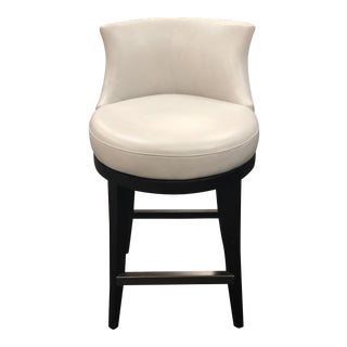 Modern Century Furniture Swivel Leather Barstool For Sale