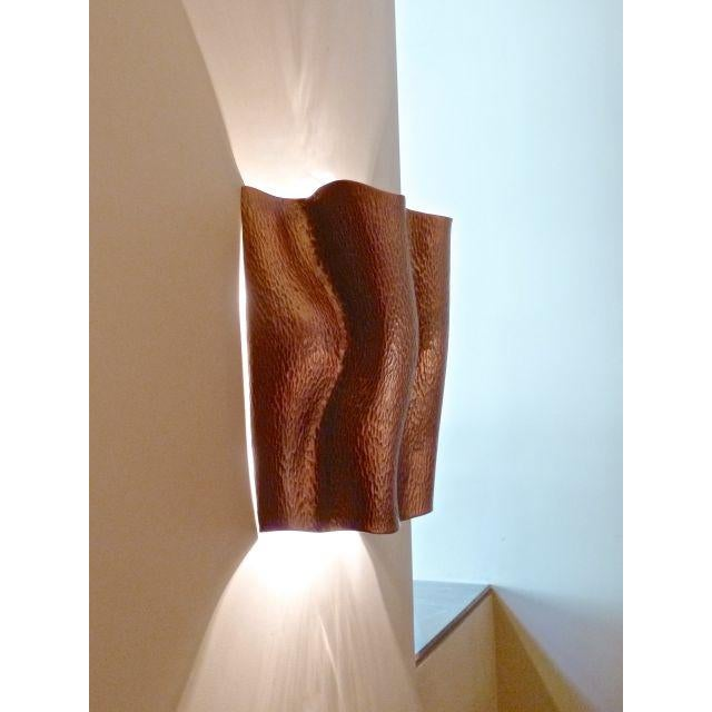 Contemporary Ji Guan Sconce - Antique Copper For Sale - Image 3 of 4