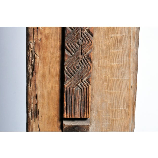Carved Wooden Door Panel on Stands For Sale In Chicago - Image 6 of 11