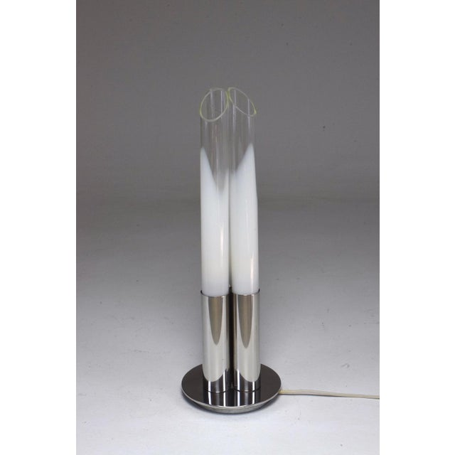 Italian Space Age Chrome Three-Light Lamp by Goffredo Reggiani, 1970s For Sale - Image 12 of 12