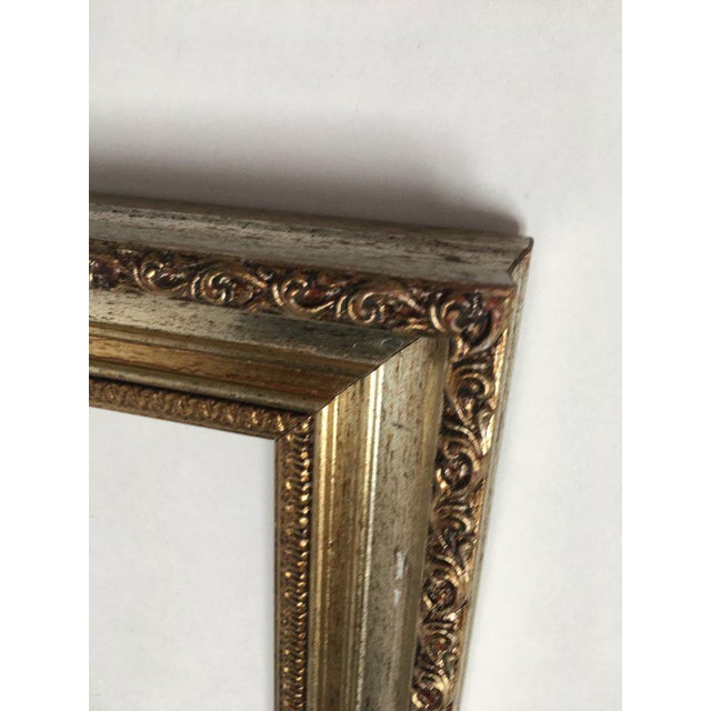 Large 34 X 28 Italian Gold and Silver Giltwood Ornate Wood Frames - a Pair For Sale - Image 9 of 13