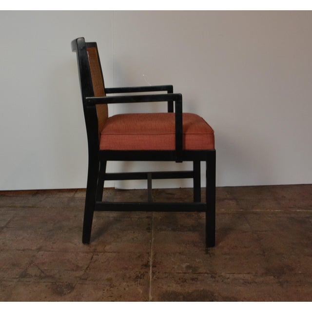 Modern Pair of Black Frame Armchairs For Sale - Image 3 of 6