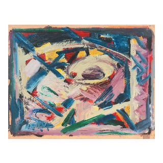 'Abstract, Lilac and Blue' by Victor Thall, Mid-Century, New York School, Whitney Museum, Works Progress Administration For Sale