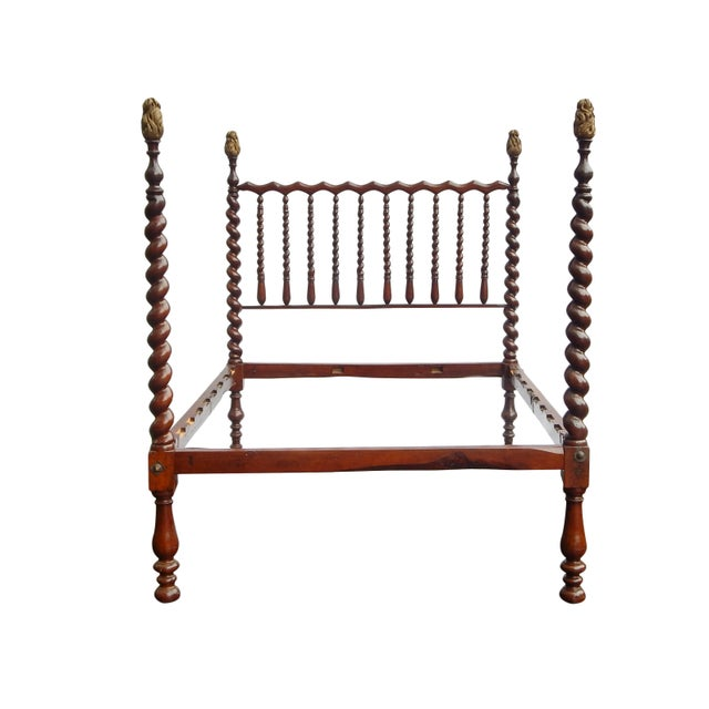English 19th Century Barley Twist Full Bed For Sale - Image 3 of 7