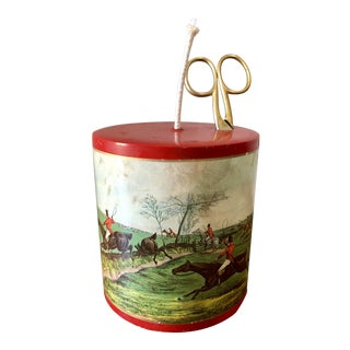Vintage English Fox Hunt String Holder