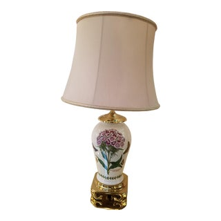 Port Merion Pottery Table Lamp on a Brass Asian Base