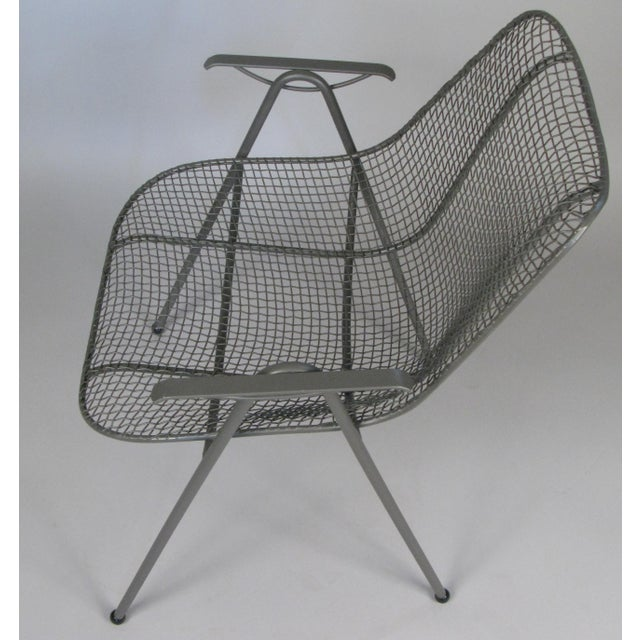1950's Woodard Sculptura Patio Dining Chairs - Set of 6 For Sale - Image 9 of 12