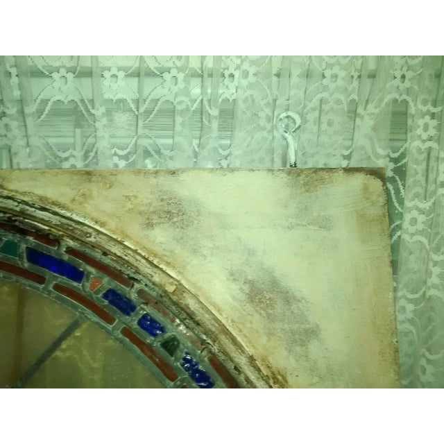 Stained Glass Victorian Window Transom - Image 6 of 6