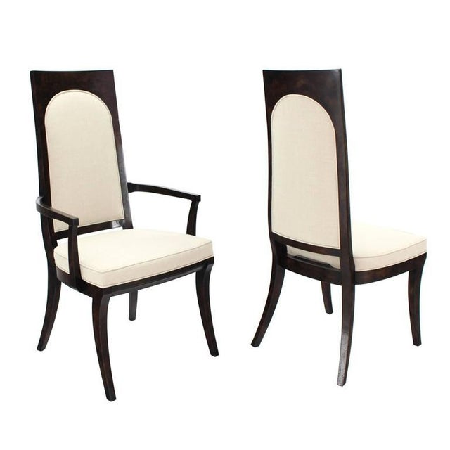 Mid-Century Modern Set of Six Mid-Century Modern Mastercraft Dining Chairs With New Upholstery For Sale - Image 3 of 10