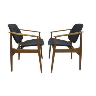 Arne Vodder Arm Chairs - Pair For Sale