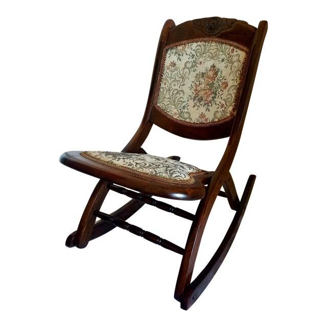 Antique Folding Rocking Chair Chairish - Small Antique Folding Rocking Chair - Chair Design Ideas