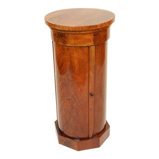 19th Century Napoleon III Flame Mahogany Cylinder Cupboard For Sale