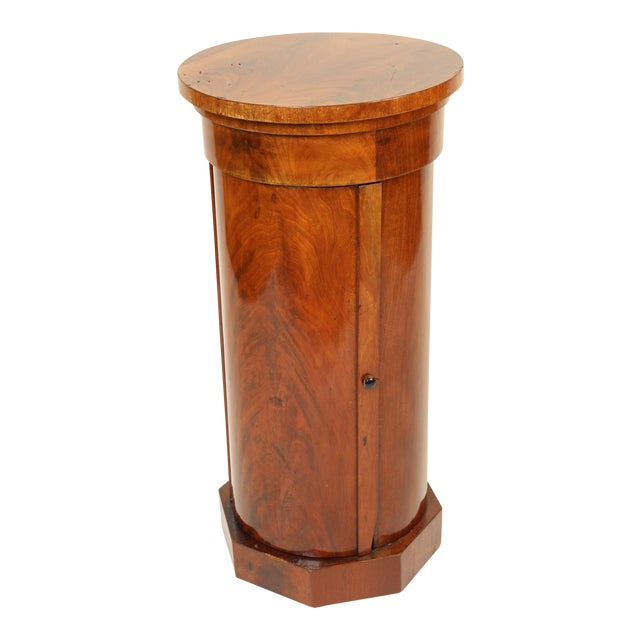 19th Century Napoleon III Flame Mahogany Cylinder Cupboard For Sale