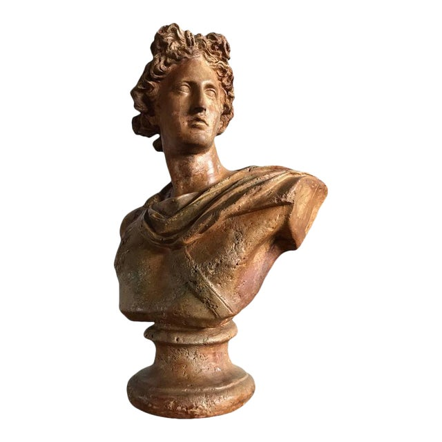 Antique Neoclassical Bust of a Greek God For Sale