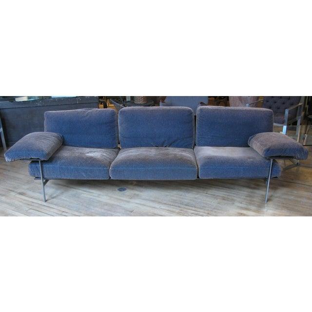 Modern 1990s Vintage Antonio Citterio for B&b Italia Velvet Diesis Sofa For Sale - Image 3 of 8