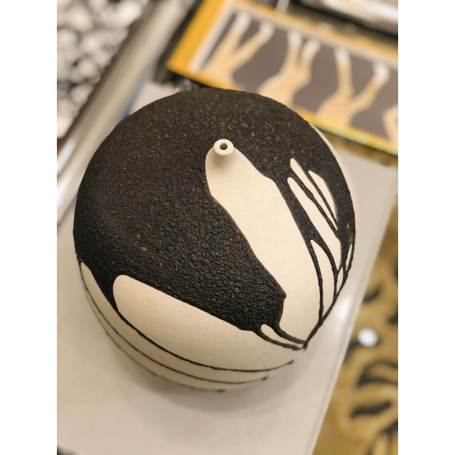 Ceramic Ceramic Vase With Lava Glaze For Sale - Image 7 of 8