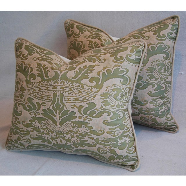 Italian Fortuny Corone Crown Down Pillows - A Pair - Image 9 of 11