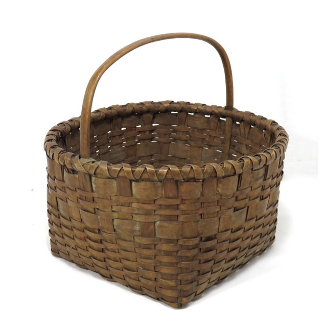 20th Century Rustic Maine Woven Basket For Sale - Image 4 of 13