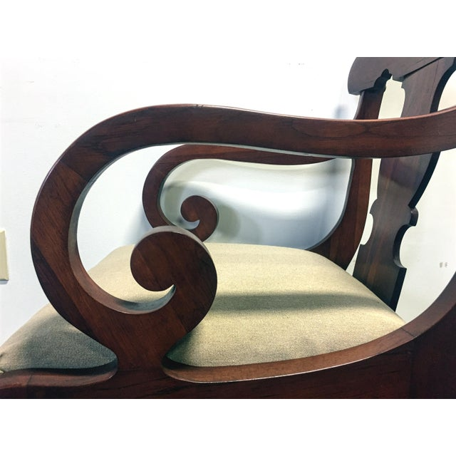 Vintage Willett Solid Cherry Empire Style Dining Chairs - Set of 6 For Sale - Image 10 of 11