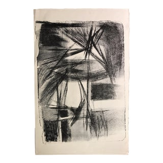 1940-50s Abstract Stone Lithograph Jerry Opper