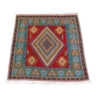 Persian Hand Made Rug Shiraz Wool Rug - 4′2″ × 4′6″