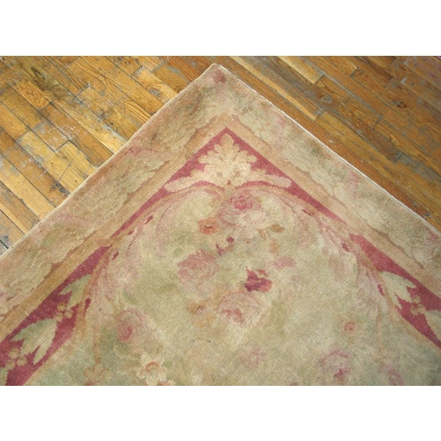 """Neoclassical Antique Savonnerie Rug 11'10"""" X 16'6"""" For Sale - Image 3 of 7"""