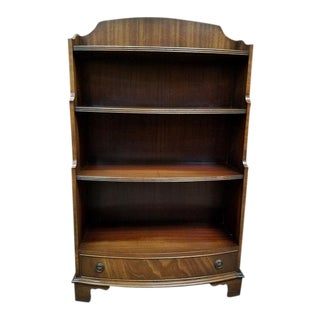 Elegant Mahogany Open Shelving w/ Single Drawer c.1950s
