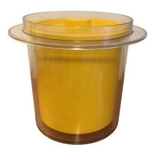 1970s Mid-Century Yellow Plastic Ice Bucket For Sale