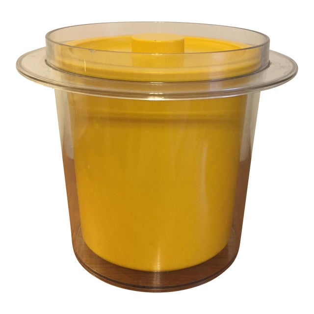 1970s Mid-Century Yellow Plastic Ice Bucket - Image 1 of 6