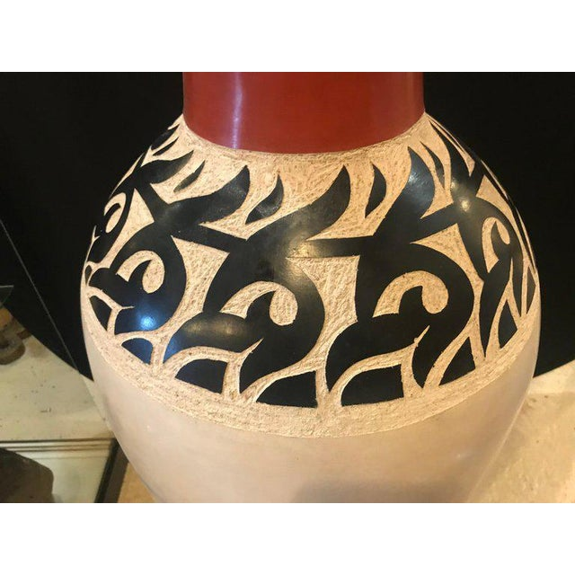 Islamic Monumental Decorative Moroccan Pottery Vases - A Pair For Sale - Image 3 of 8
