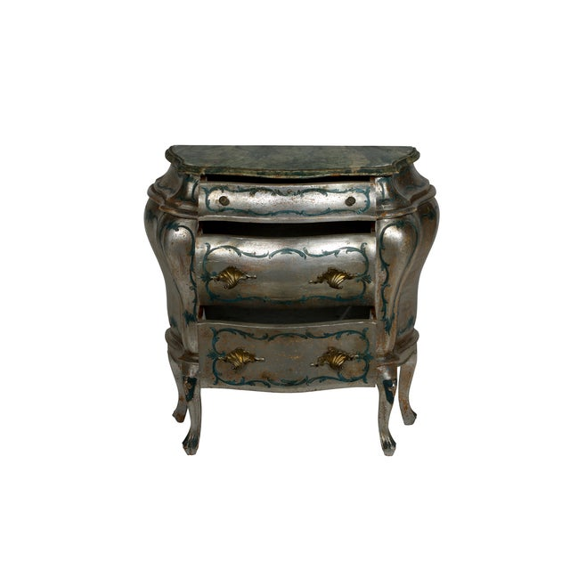 Hand Painted Italian-Style Commodes - Pair - Image 2 of 6
