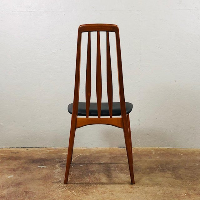 1960s 1960s Niels Koefoed Teak and Black Leather Dining Chairs - Set of 4 For Sale - Image 5 of 10