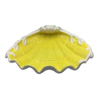 Vintage Fitz & Floyd Hollywood Regency Ceramic Shell Dish Catchall For Sale