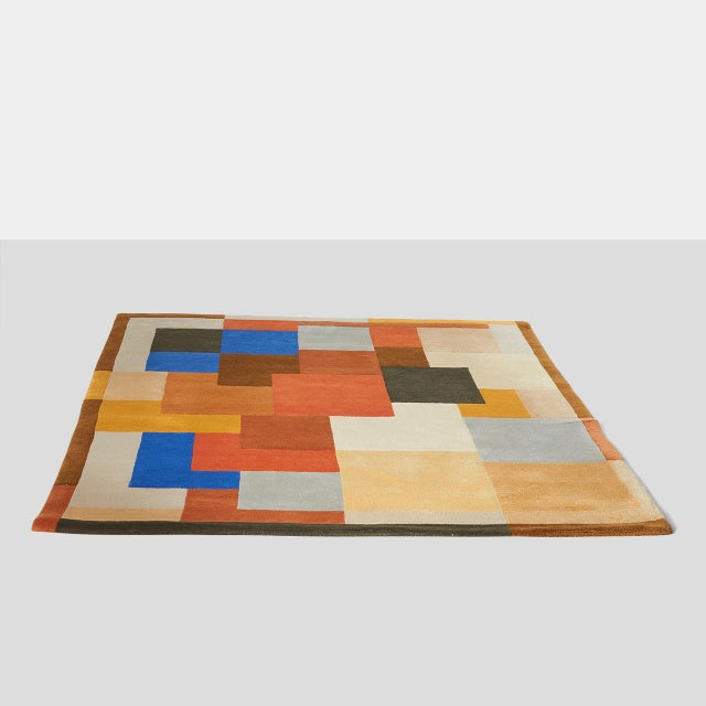 """Art Deco """"Labrinthe"""" Wool Rug by Sonia Delaunay For Sale - Image 3 of 10"""