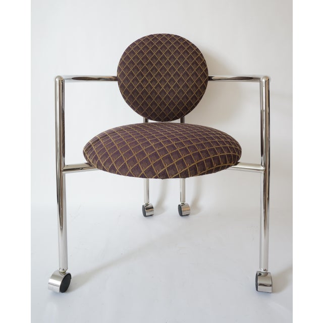 """Vintage Stanley Jay Friedman for Brueton """"Moon Chair"""" - 4 Are Available - from a Palm Beach estate. Brownish patterned..."""