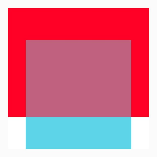 "Mid-Century Modern The Interaction of Red and Turquoise Fine Art Print 20"" X 24"" by Liz Roache For Sale - Image 3 of 6"