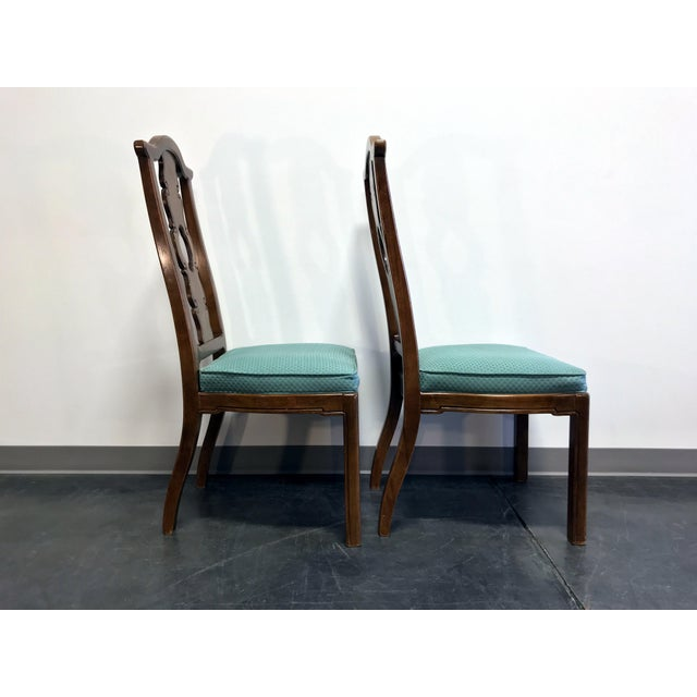 THOMASVILLE Mystique Asian Chinoiserie Dining Side Chairs - Pair 1 For Sale - Image 5 of 13