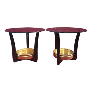 1950's Mont Style End Tables With Planters - a Pair For Sale