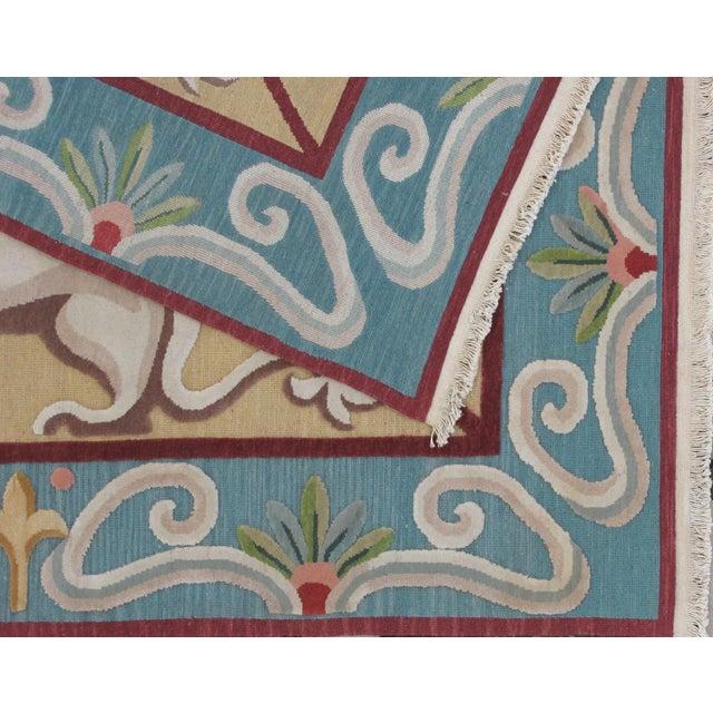 Dog Motif Soumak Design Hand Woven Wool Rug
