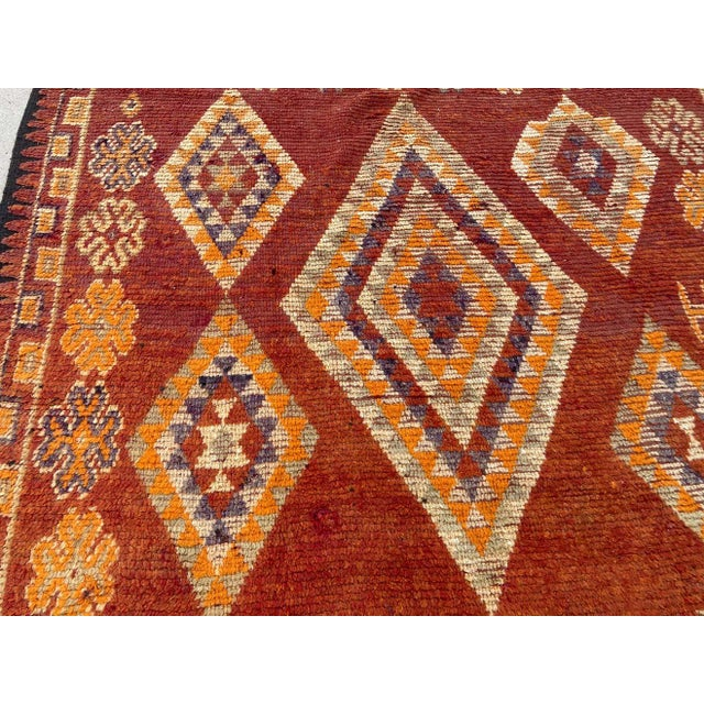 Moroccan Vintage Hand-woven Marrakech Tribal Rug, circa 1960 For Sale - Image 11 of 13