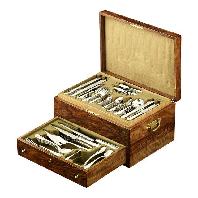 Tiffany & Co. Winthrop Silver Flatware Service For Sale