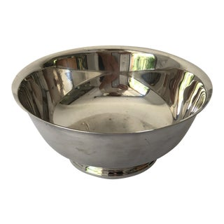 Midcentury Style Gorham Silver Plate Bowl For Sale