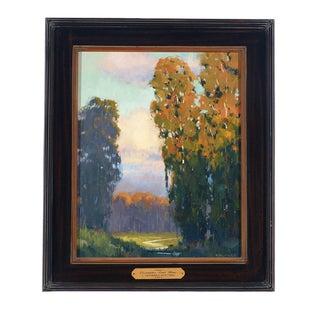 J. Thomas Soltesz 'Eucalyptus Trail Home' Original Signed Landscape Painting For Sale