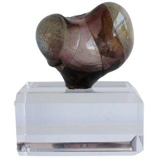 Handblown Petite Glass Bud Sculpture For Sale