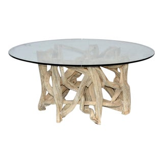 Antique Indonesian Root Coffee Table For Sale