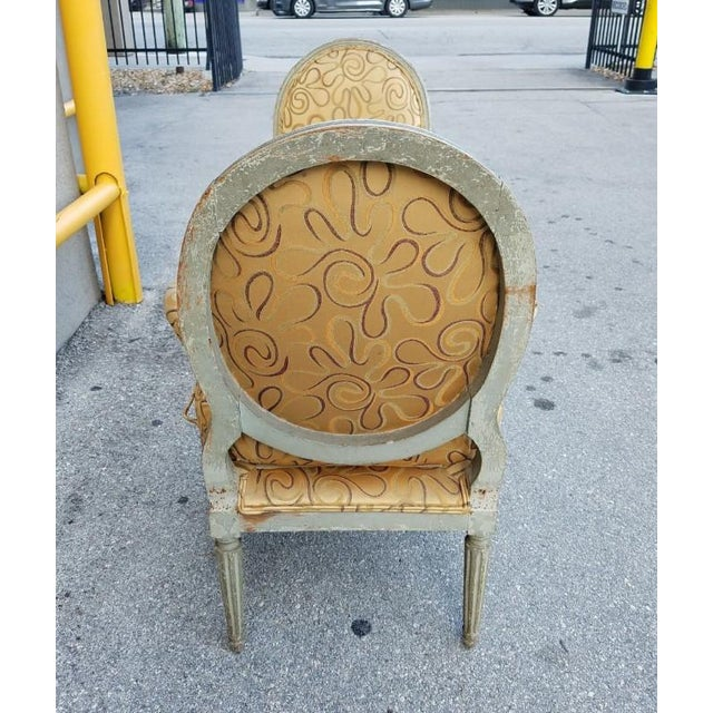 Tan Mid 18th Century Antique French Louis XVI Medallion Chairs - A Pair For Sale - Image 8 of 13