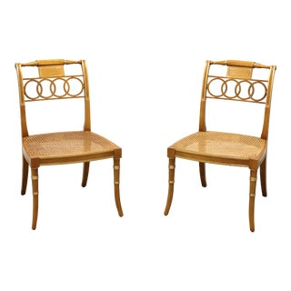 Baker Historic Charleston Governor Alston Regency Dining Side Chairs - Pair For Sale